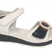 Обалденные босоножки Tom.m для девочек открытые белые, размер 35