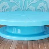 Стойка для торта вращающаяся (пластик ) | Крутящаяся подставка для тортов 28*7 см |