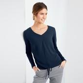 Комфортная блуза с V-образным вырезом от Tchibo (Германия), размер 40/42евро