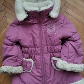 Зимове теплюще пальто на дівчинку 3-4 р.