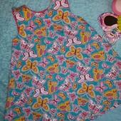 Красивое платье в бабочках,на малышку 1-1,5 годика