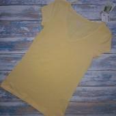 Хлопковая футболка C&A Германия, р.S (желтая)