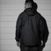Мужская куртка ветровка с флисовой подкладкой point line от lidl р. л, цвет бордо!