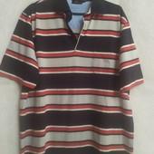 Яркая мужская футболка поло в полоску