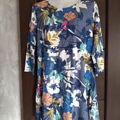Всё по 100! Фирменное новое трикотажное платье из вискозы р.14-16