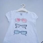 Стоп!! Фирменная удобная яркая натуральная футболка от Zara