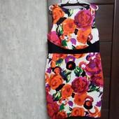 Фирменное красивое коттоновое платье в состоянии новой вещи р.16-18.