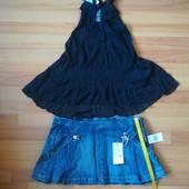 Джинсовая юбка + майка туника в подарок. Закрытие магазина. Распродажа