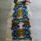 Всё по 100! Фирменная новая красивая блуза-туника-сарафан р.10-12