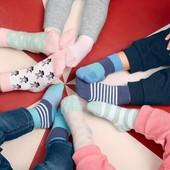 ☘ Лот 3 пари ☘ Для дівчинки-яскраві бавовняні шкарпетки від tcm Tchibo (Німеччина), розміри: 23-26