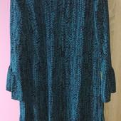 Шикарное шифоновое платье с подкладкой