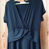 Черное мягкое платье размер 48-50