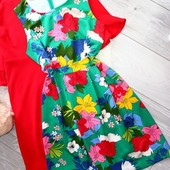 ❤️Германия❤️Стильное платье яркий цветочный принт в новом состоянии евро 40\42