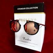 Солнцезащитные очки Massada Lust.Caution (реплика), линза ржавое золото. унисекс, UV400