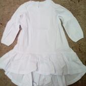 Симпатичное платьеце для маленькой модницы.Цвет Белый.смотрим замеры