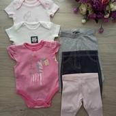 Боди и штаны для новорожденной девочки. Отличное состояние.