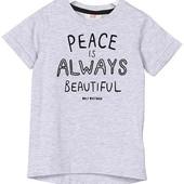 Стильная коттоновая футболка H&M 98-104 си