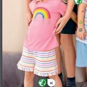 Качественные шорты из био-хлопка для девочки от tchibo(германия) размер 98-104
