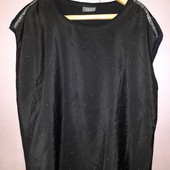 Чёрная свободная летняя блузка