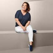 ☘ Стильна, якісна блуза з візерунками, Tchibo (Німеччина), р.: 54-56 (48/50 евро), нюанс