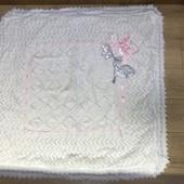 Отличное состояние Одеяло новорождённому 85/85 см Цвет ленты возможен Розовый голубой или зелёный