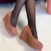 Замшевые Богатые туфли на устойчивой платформе. Качество бомба!