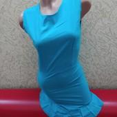 Легенькое платье ! 8180 бирюза!Смотрите замеры! Размер на выбор !