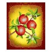 """Схема для вишивки натюрморт """"Фрукти-яблука"""" як варіант вишивка для кухні"""