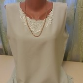 Красивая нежная блуза р-р 48-50.Смотрите замеры.цвет-мята