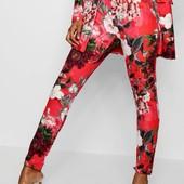 новые роскошные яркие брюки в цветы Boohoo премиум! Цветочный принт + карманы!