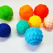 Набор сенсорных тактильных мячиков 8 шт | Массажные мячики для младенца |Tactile bug tower | Массажн