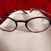 Компактные очки для зрения с диоптрией -1 (минус 1), круглые, леопардовая дужка