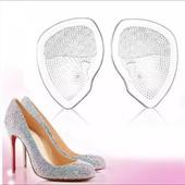 Спасение при хождении на каблуках- силиконовые вкладыши под передний отдел стопы, комплект 2 шт.