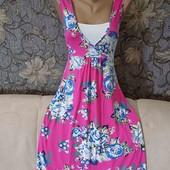 Мягенькое трикотажное платье в цветочный принт, Ти-Ю, р. М