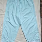 Коттоновые пижамные брючки с вышивкой,M&S,2xl/3xl. Читаем!