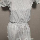 Белое, нарядное платье, на лето, размер S.
