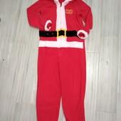 Флисовый костюмчик Санта Клаус 9-10лет замеры на фото