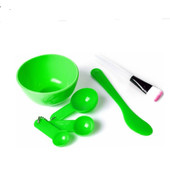 Косметический набор для нанесения масок(миска, кисточка,лопатка,3 ложки.)