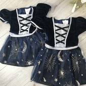 2 платья 1-2 года для близняшек нарядные новые