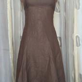 платье лен + шелк