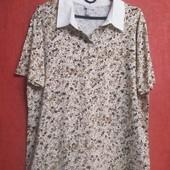 Очень классная футболка большого размера из натуральной ткани, цветочный принт
