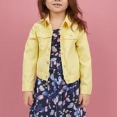 Летнее платье, сарафан для девочки от H&M синее 2-4г
