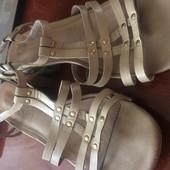 босоножки, сандали, кожа, 40 размер встелька 25 см, Di fontana. сост. отличное