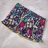 Стоп ) красота❤ Фирменные яркие трикотажные шортики для малышки,до года❤ Много лотов!