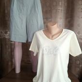 *Много лотов!!!* Размер 52-54. Свободные лёгкие шорты Isabell + тонкая футболочка (50% хлопок)