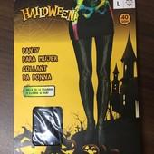 ☘ Лот 1 шт ☘ Капронові колготи з незвичайним малюнком від Halloween (Німеччина), розмір S