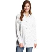 ☘ Лот 1 шт ☘ Жіноча сорочка-блузка із зоряним принтом від Gina (Німеччина), розмір євро: 44