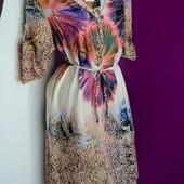 р.48-50 новое! легкое! красивенное платье 100% хлопок для пышных леди.