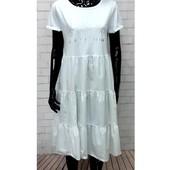 легкое , натуральное платье , италия , р. оверсайз ,р. 44 - 50 , на выбор !