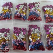 Розочки из металла 120шт, 6 цветов